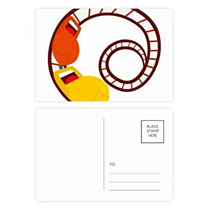 DIYthinker Montaña Rusa Parque de ejemplo de la postal ...