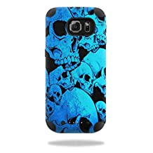 MightySkins Protective Vinyl Skin Decal for Mophie Juice Pack Samsung Galaxy S6 wrap cover sticker skins Blue Skulls