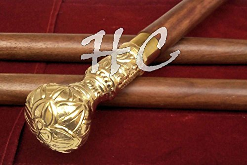 Replica of Bat Masterson Brass Knob Handle Walking Cane by Replica Warehouse