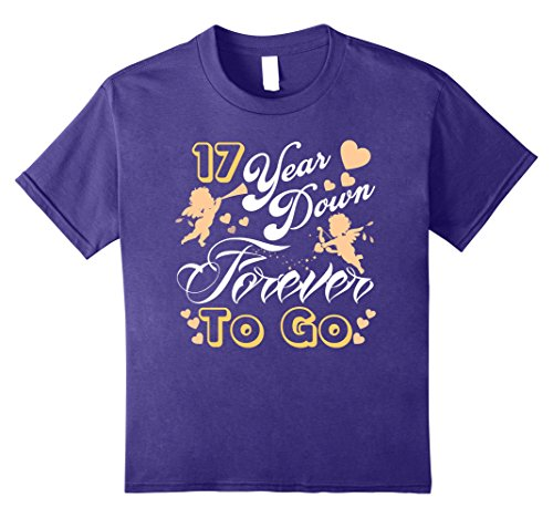 Kids Forever Shirt For Couple-Funny 17th Wedding Anniversary Gift 8 Purple