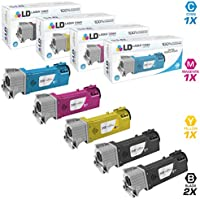 LD Compatible Toner Cartridge Replacements for Xerox Phaser 6500 & WorkCentre 6505 High Yield (2 Black, 1 Cyan, 1 Magenta, 1 Yellow, 5-Pack)