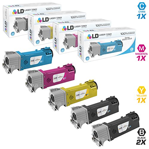 LD Compatible Toner Cartridge Replacements for Xerox Phaser 6500 & WorkCentre 6505 High Yield (2 Black, 1 Cyan, 1 Magenta, 1 Yellow, - Phaser 1 Xerox
