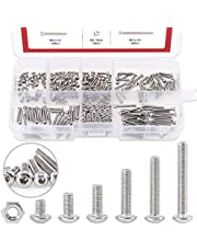 Hilitchi 250-Piece [M2] Stainless Steel Hex Socket Button Head Cap Bolts Screws Nuts Assortment Kit
