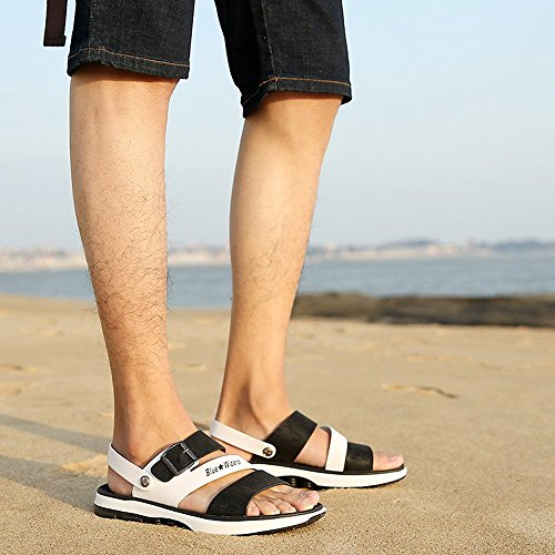 Koreanische HUO größe Sommer Persönlichkeit Hausschuhe Casual Strand 4 Männer CN41 Sandalen Mischfarben Schuhe use Dual Hausschuhe Mode Kühle EU40 I Farbe Hausschuhe atmungsaktiv UK7 H6w8qnrOHx