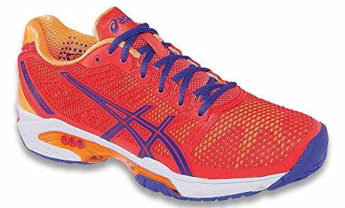 ASICS Women's Gel-Solution Speed 2 Tennis Shoe,Hot Coral/Lavender/Nectarine,7.5 D(M) US