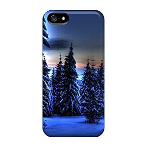 Iphone 5/5s VfM18934UqgR Support Personal Customs Trendy Blue Winter Skin Scratch Resistant Hard Phone Case -MansourMurray