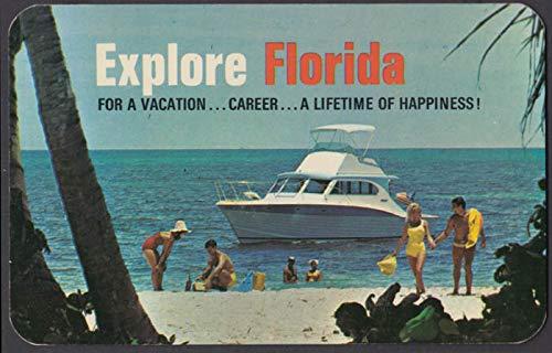 Florida Power & Light Explore Florida Reddy Kilowatt advertising postcard 1960s