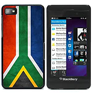 Graphic4You Vintage South African Flag of South Africa Design Thin Slim Rigid Hard Case Cover for Blackberry Z10