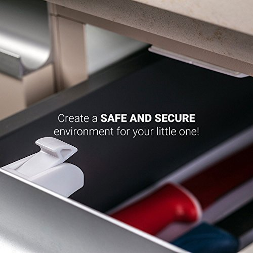 Magnetic Baby Safety Locks for Cabinets & Drawers - Baby Proof & Easy Install - No Screws or Drilling - 8+2 Set by Purple Safety (Image #7)