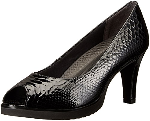 Walking Cradles Women's Tigress Dress Pump Black Snake Print Leather 8.5 M US (Pumps Black Print Snake)