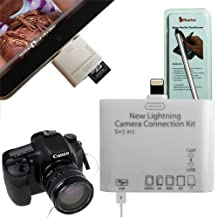 Rasfox New 5in1 USB Camera Connection Kits For Apple iPad mini & iPad 4th Generation + Rasfox Stylus