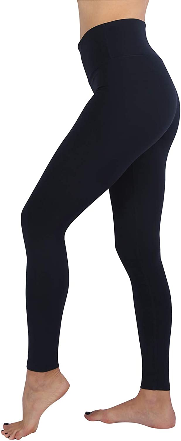 Mettshe High Waist Lycra Breathable Yoga Pants with Pocket for Women Tummy Control Ultra Soft 4-Way Stretch Full Length