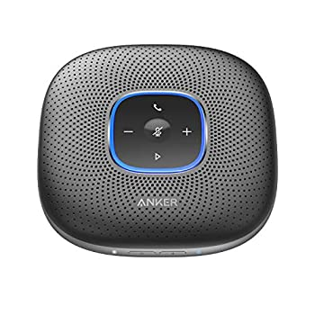Image of Anker PowerConf Bluetooth Speakerphone with 6 Microphones, Enhanced Voice Pickup, 24 Hour Call Time, Bluetooth 5, USB C Connection, Compatible with Leading Platforms, PowerIQ Technology Handles