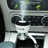 HOMEE Multi - function humidifier car aroma spray air purifier car charger portable,Black