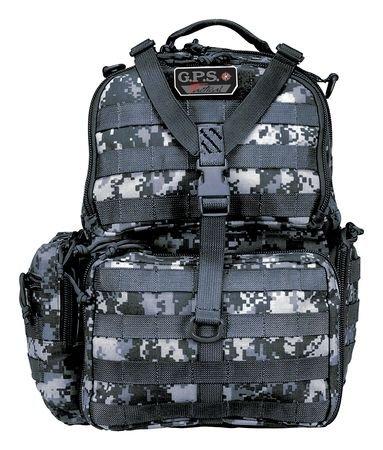 GPS GPS-T1612BPGDC Tactical Range Backpack That Holds 3 Handguns in Gray Digital