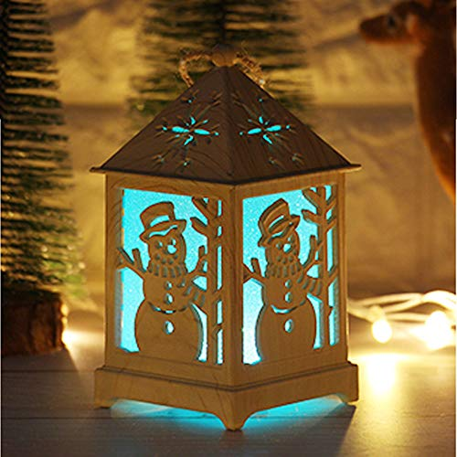 - Hot Sale!DEESEE(TM)Christmas Light Cabin Christmas Snow House With Light Wooden Cabin Decoration (C)