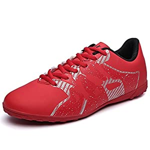 Spearss LightweightMen's Athletic Soccer Shoes Fashion Sports Cleat Red9 D(M) US Convenient