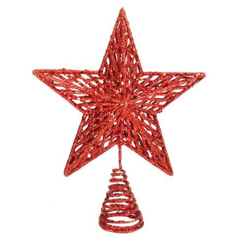 Red Glitter Star Tree Topper Gisela Graham