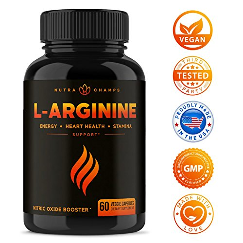 Premium L Arginine 1500mg Nitric Oxide Supplement - Extra Strength for Energy, Muscle Growth, Heart Health, Vascularity & Stamina - Powerful NO Booster Capsules with L-Arginine & L-Citrulline Powder by NutraChamps (Image #6)