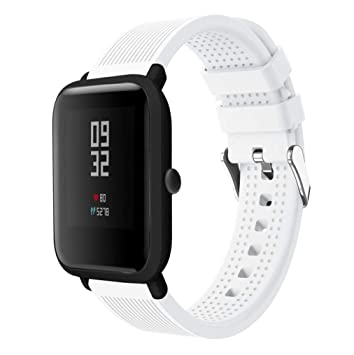 Zolimx Deporte Suave Silicona Accesorios Reloj Banda Wirstband ...