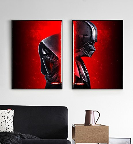 Darth Vader Helmet Art (Star wars Darth Vader poster, Star wars Kylo Ren poster, Darth Vader helmet poster, Kylo Ren helmet poster, All Prints avialable in 9 SIZES and 3 type of MATERIALS)
