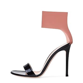 23685b83241c9 Amazon.com: LUCKY CLOVER-CC High Heels Sandals Women Bride Ladies ...