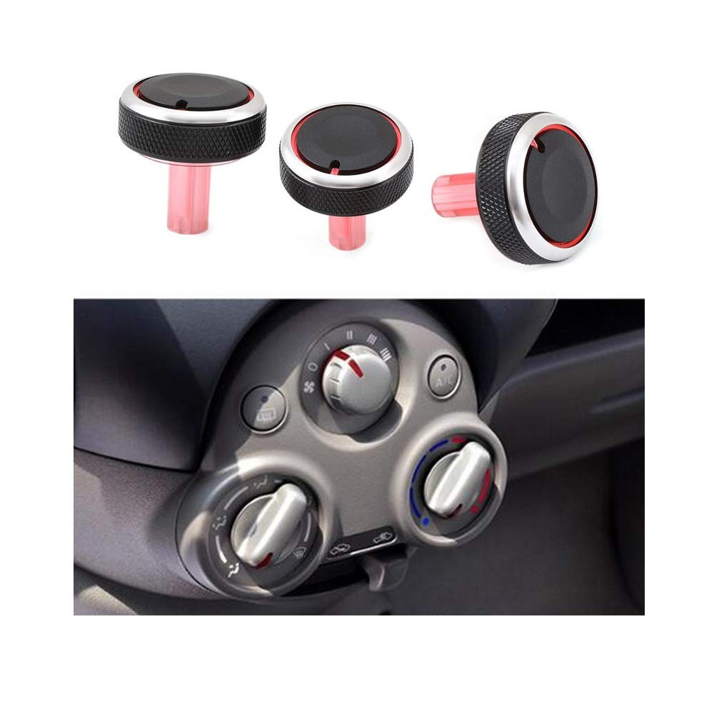 VIGORWORK 3PCS Air Conditioning Knob Car Air Conditioning Heat Control Switch Knob for for Nissan New Sunny March AC Knob auto Accessories