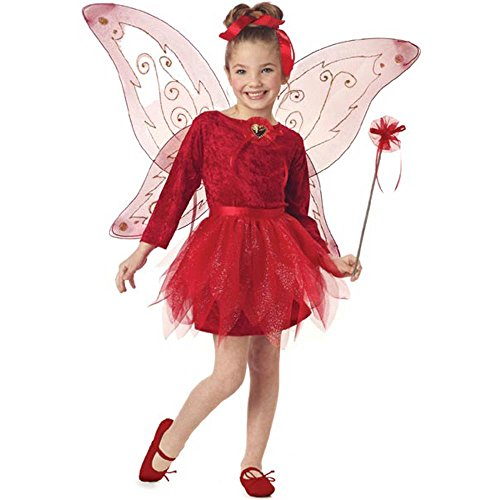 Mother Daughter Costumes Ideas (Child's Red Fairy Princess Costume (Size: X-Small 4-6))