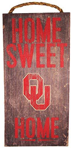 "NCAA Oklahoma Sooners 6"" x 12"" Home Sweet Home Wood Sign"