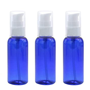 Amazon.com: 3 botellas de plástico recargables vacías de ...