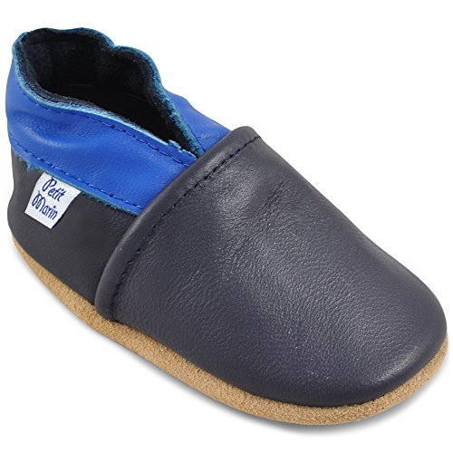 Beautiful Soft Leather Baby Shoes - Crib Shoes with Suede Soles