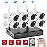 YESKAM Security System 8 Channel 960P Network Recorder and 720P 1.0 Megapixel Wireless Waterproof IP Camera Night Vision for Home Surveillance Pre-installed 1TB HDD (8CH 720P with 1TB)