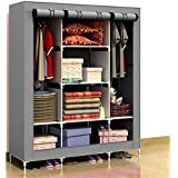 Generic New Portable Folding Clothes Closet Wardrobe Armoires Storage Rack Garment Hot