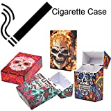 Transer- Cigarette Box Case, Skull Plastic Tobacco Pocket Storage Box Holder, Fit 20 Pcs 85mm Cigarettes (Pack of 4)