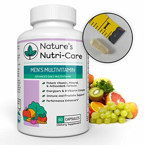 Nature's Nutri-Care Best Multivitamin for Men - 60 Capsules - Essential Vitamins, Antioxidants, and Minerals - Complete Male Support Blend, Immune Blend, and Energy Blend - Made in USA, 60