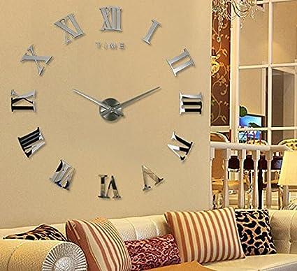 Amazon.com: Shuangklei Home Decor Wall Clock Acrylic Mirror ...