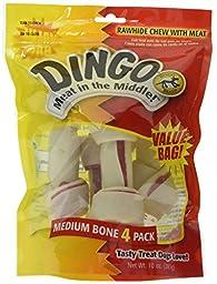 Dingo Rawhide Bone, Medium, 4-Count