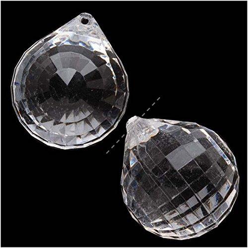 (Beadaholique Vintage Clear Lucite Plastic Chessboard Drop Top-Drilled Pendant 29x34.5mm (2) )