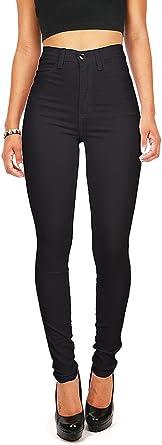 Vibrant Miu Jeans Ajustados De Tiro Alto Para Mujer Negro Xxxl Amazon Es Ropa Y Accesorios