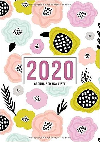 Amazon.com: Agenda semana vista 2020: Del 1 de enero de 2020 ...