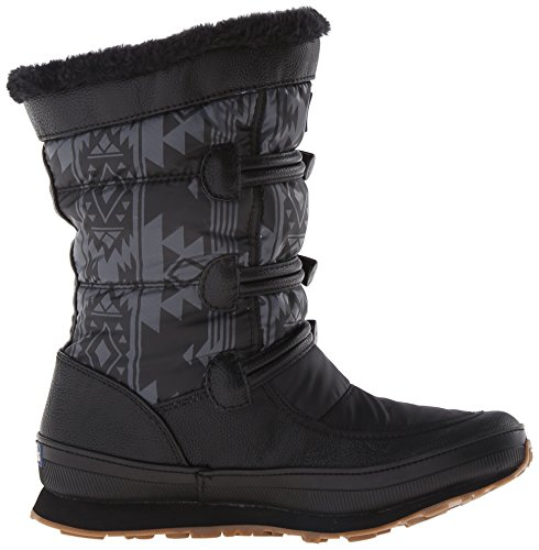 Keds Womens Powder Puff Waterproof Snow Boot Black/Gray V0xEOSwsc0