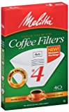 No. 4 Cone Coffee Filter in White (40 count)