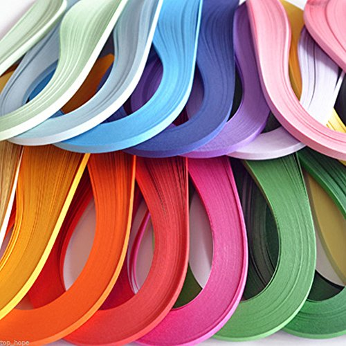 LEIZENG DIY 120 Strips 5mm Paper Quilling Color Origami Paper Hand Craft Milk White by LEIZENG (Image #3)