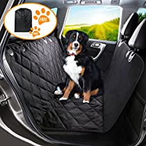 Pet Seat Cover Dog Car Seat Covers with Storage bag-600D Waterproof, Nonslip Backing and Hammock Style Easy to Clean and Install for Cars, Trucks and Suvs