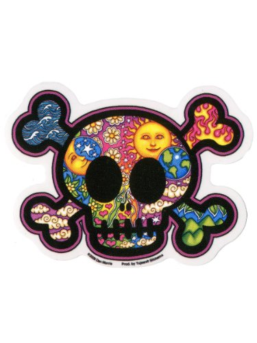 Dan Morris - Cute Skull and Crossbones - Sticker / Decal