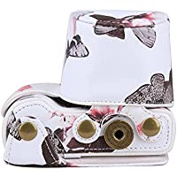 PDXD-share Protective Leather Camera Case Bag for Sony a5100 a5000 NEX3N with 16-50mm Lens (White)