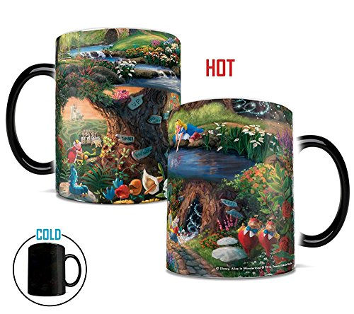Morphing Mugs Thomas Kinkade Disney's Alice in Wonderland Painting Heat Reveal Ceramic Coffee Mug - 11 Ounces -