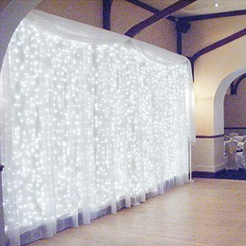 600 LED 6Mx3M Zorela Tenda Luminosa Natale IP44 Impermeabile Luci di Natale 8 Modalità Tenda Luminosa Esterno Bianco Freddo LED Tenda di Luci Esterno per Natale, Giardino e Matrimonio