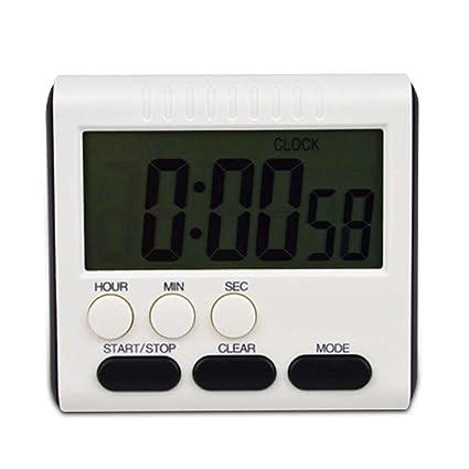 Providethebest Tiempo Digital magnética Gran Pantalla LCD Digital Temporizador de Cocina Conde de Alarma para Arriba
