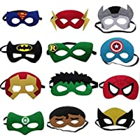 Asuron Fancy Superhero Elastic Eye Mask Set - Pack of 12